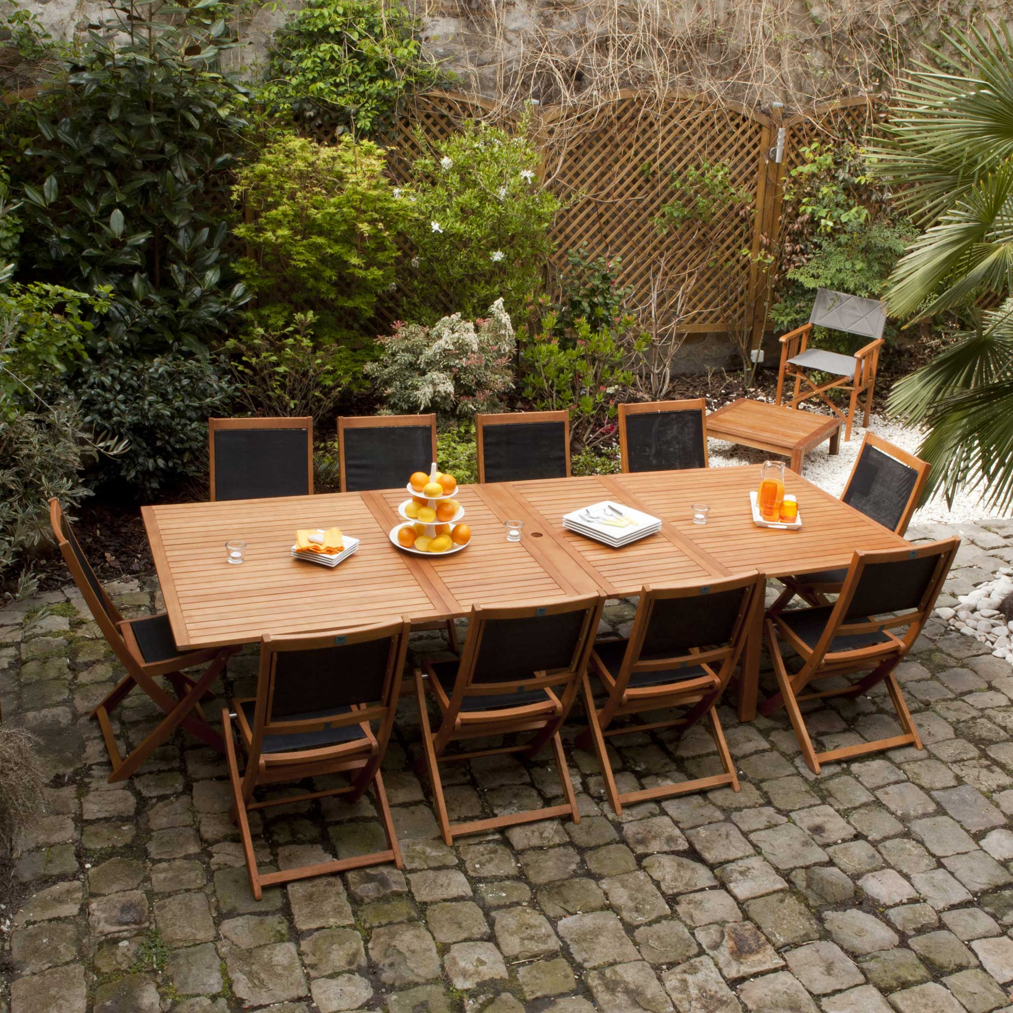 Salon de jardin table et chaises leclerc - Mailleraye.fr jardin