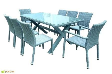 Table Et Chaise De Jardin Resine Tressee