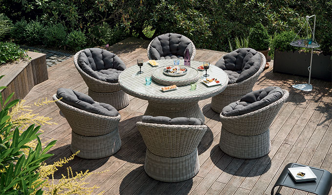 Salon de jardin résine tressée table ovale - Mailleraye.fr jardin