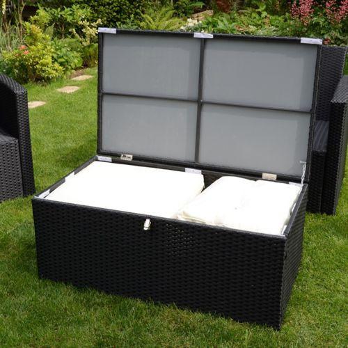 salon de jardin resine avec rangement coussin mailleraye. Black Bedroom Furniture Sets. Home Design Ideas