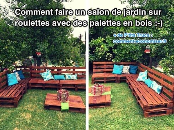 Salon de jardin en palette comment faire - Mailleraye.fr jardin