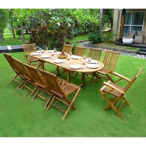 Salon de jardin en teck avec fauteuil