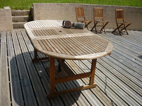 Comment rénover une table de jardin en teck - coeur dunivernais