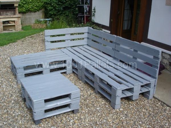 Mobilier de jardin avec palette - Mailleraye.fr jardin