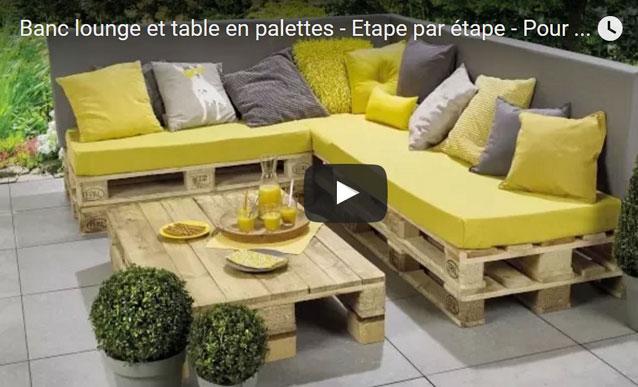 Salon de jardin en palette protection - Mailleraye.fr jardin