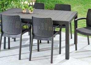 Salon de jardin table ronde pvc - Mailleraye.fr jardin