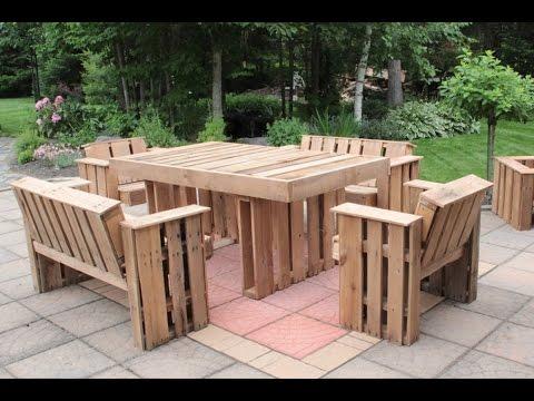 Fabriquer salon de jardin avec palette