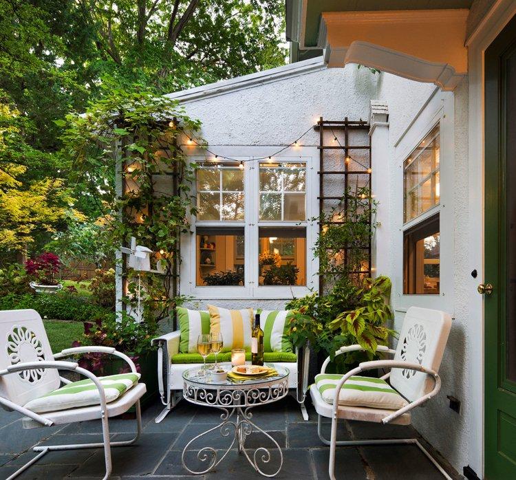 Salon de jardin en fer coloré