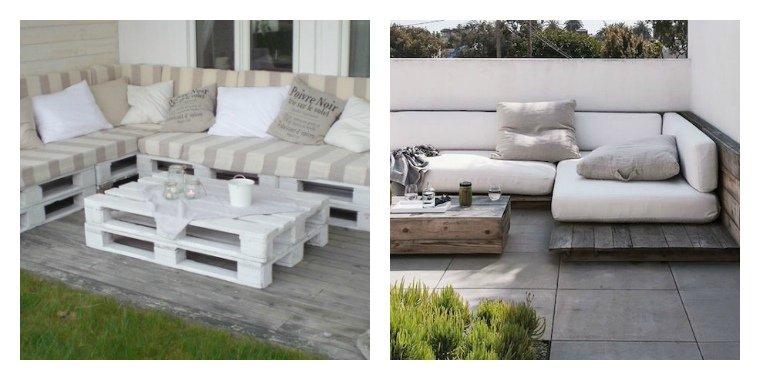 Salon de jardin palette blanche - Mailleraye.fr jardin