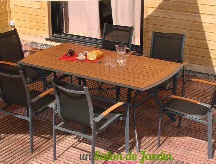 Salon de jardin en aluminium et eucalyptus - Mailleraye.fr jardin