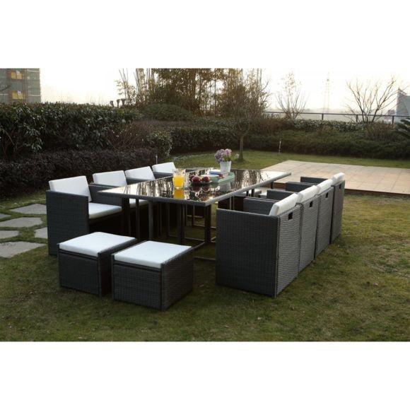 salon de jardin rotin synth tique gris jardin. Black Bedroom Furniture Sets. Home Design Ideas