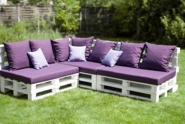 Salon de jardin fait avec des palettes - Mailleraye.fr jardin