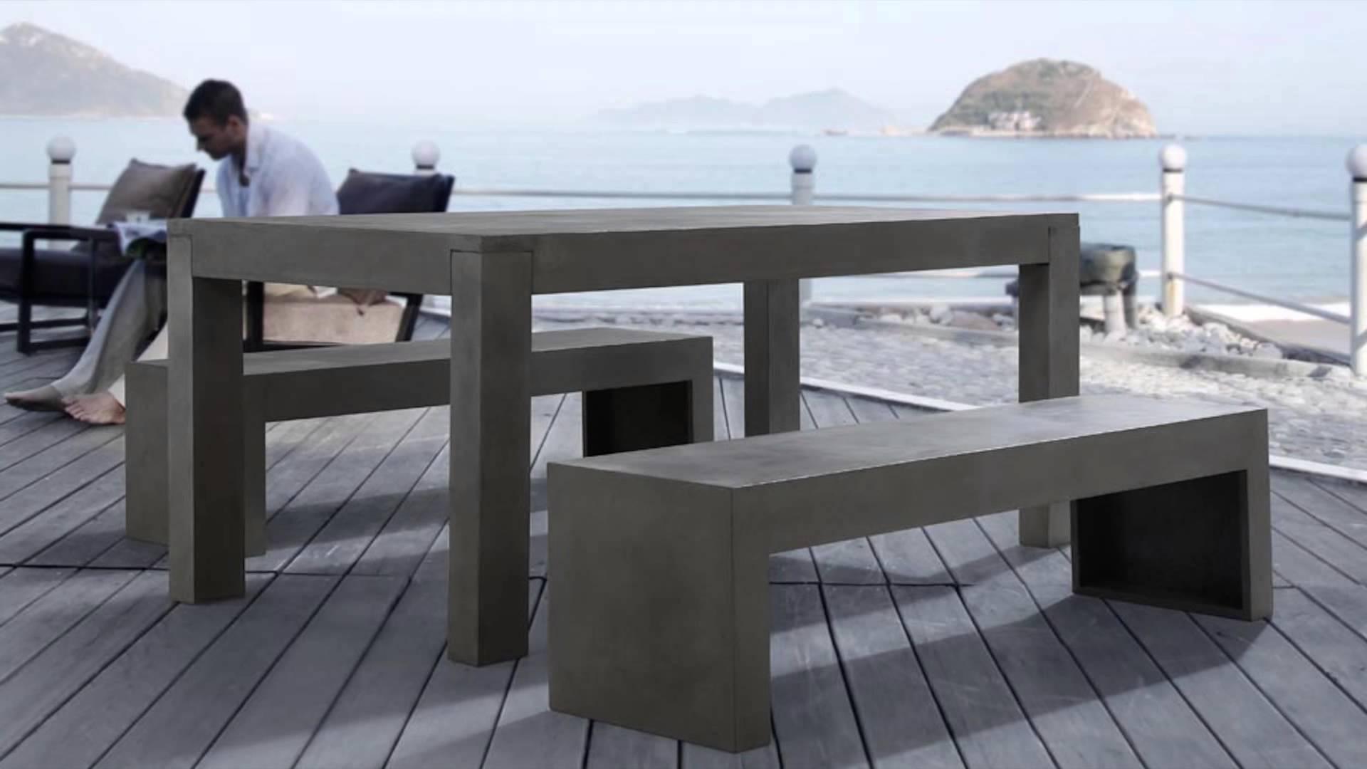 Awesome Fabriquer Salon De Jardin En Beton Pictures - House Design ...