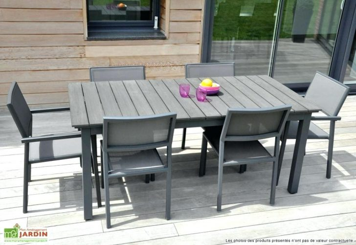 Table salon de jardin aluminium et composite - Mailleraye.fr ...