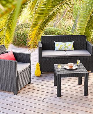 salon de jardin corona cappuccino jardin. Black Bedroom Furniture Sets. Home Design Ideas