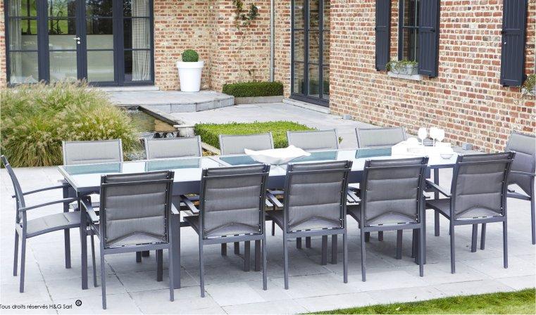 Table de salon de jardin discount - Mailleraye.fr jardin