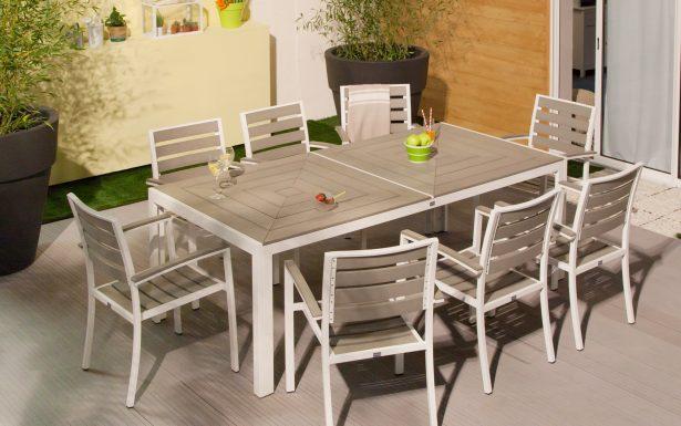 Salon de jardin harmony gris - Mailleraye.fr jardin