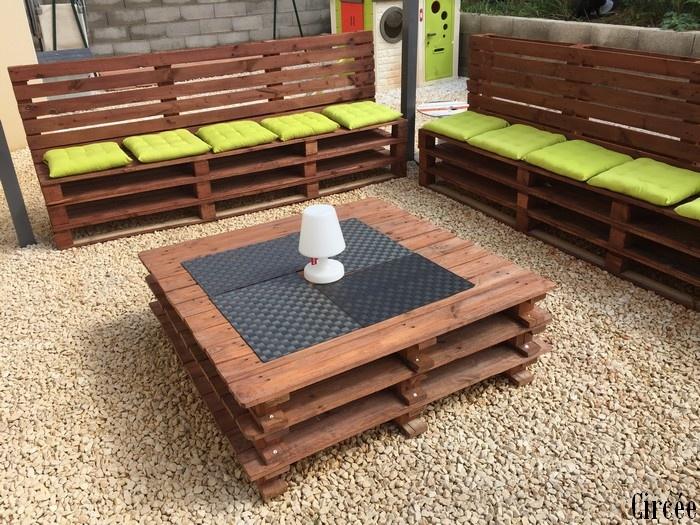 Fabriquer son salon de jardin en palette - Fabriquer son salon de jardin en bois ...