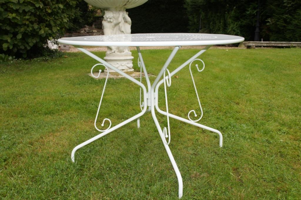 Salon de jardin métal table ronde - Mailleraye.fr jardin
