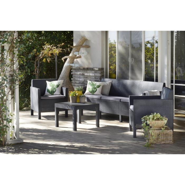 cdiscount salon de jardin en rotin jardin. Black Bedroom Furniture Sets. Home Design Ideas