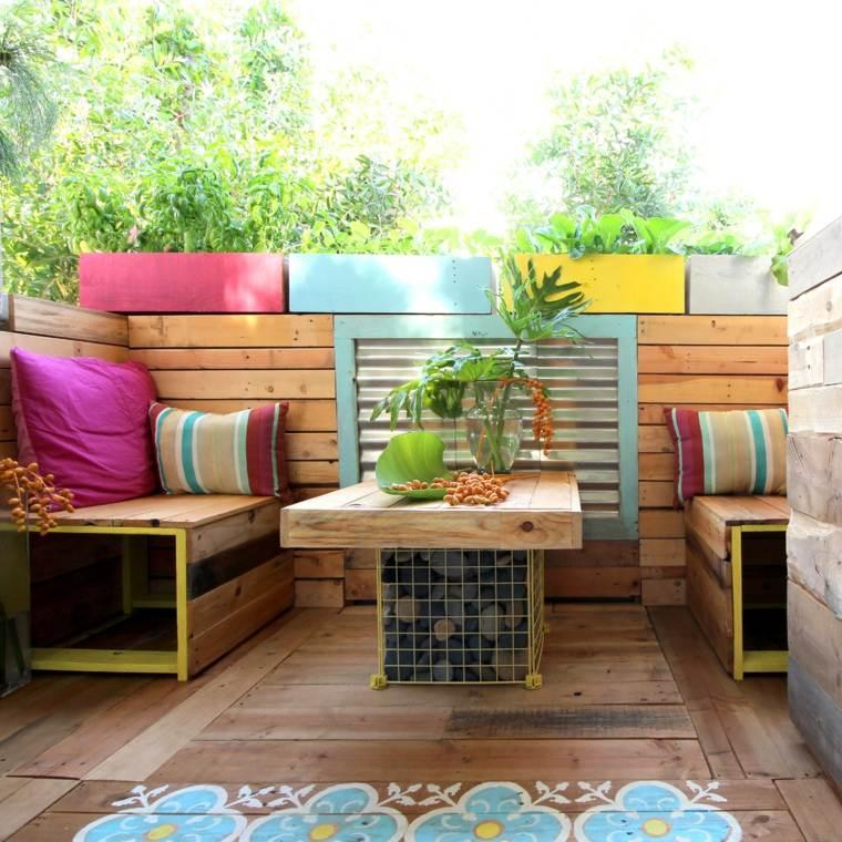 Exemple salon de jardin en palette