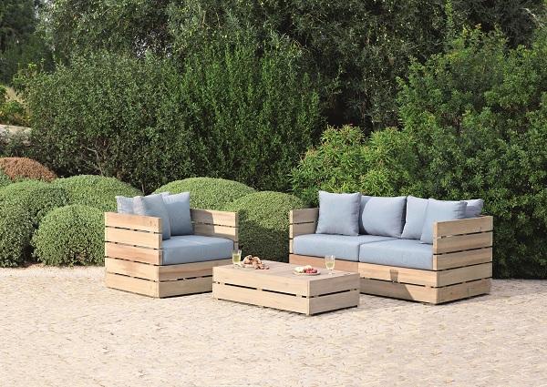 Salon de jardin en bois fait maison - Mailleraye.fr jardin