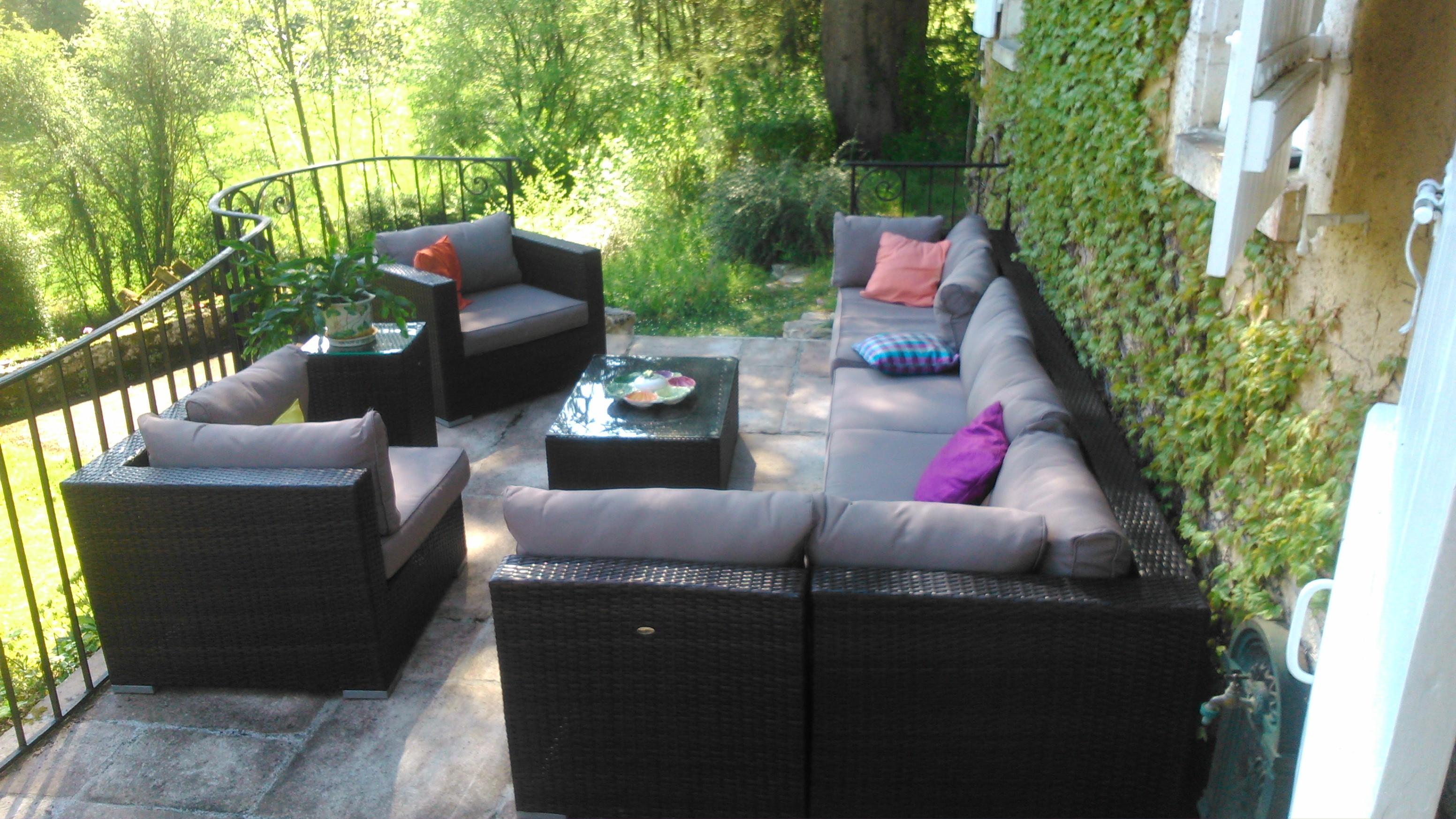 Promo salon de jardin résine tressée   Mailleraye.fr jardin