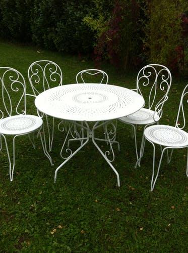 Salon de jardin romantique en fer - Mailleraye.fr jardin