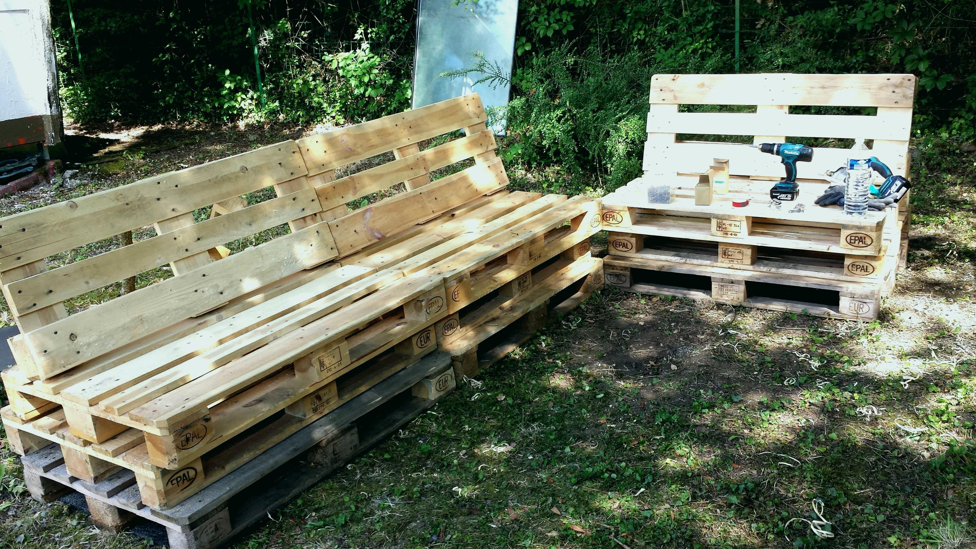 Salon de jardin en palette plan - Mailleraye.fr jardin