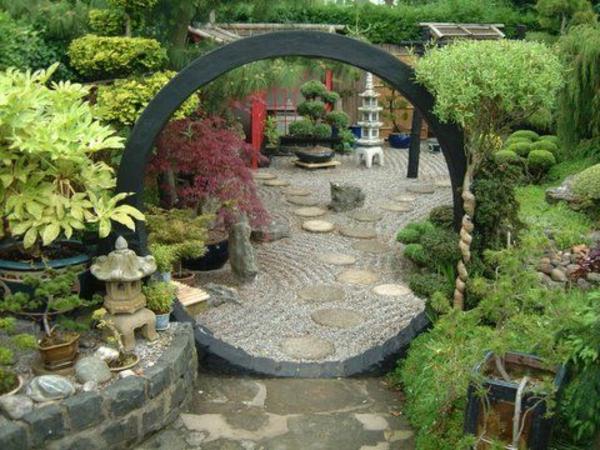 Salon de jardin style japonais