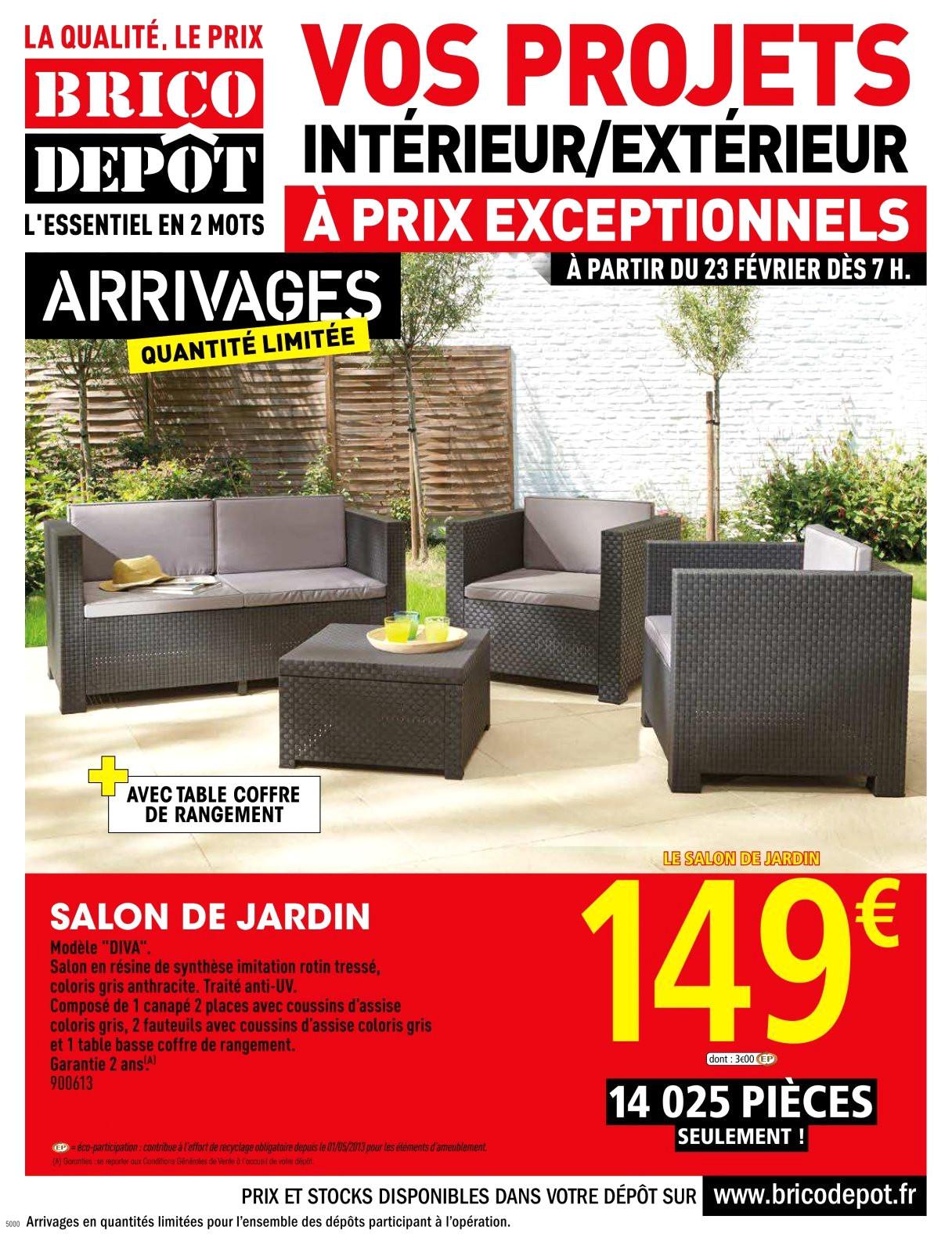 Salon de jardin brico depot - Mailleraye.fr jardin