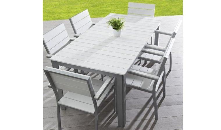 Salon de jardin en aluminium en solde