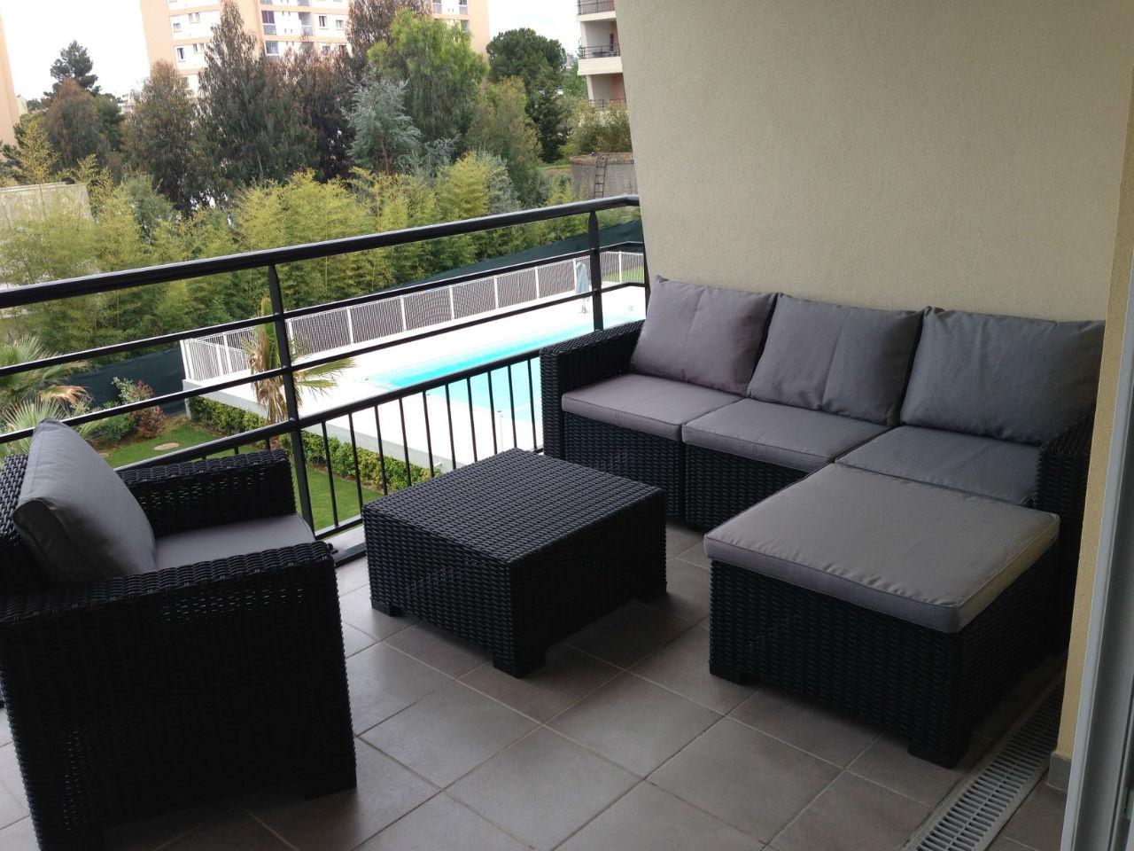 Salon de jardin sur balcon - Mailleraye.fr jardin