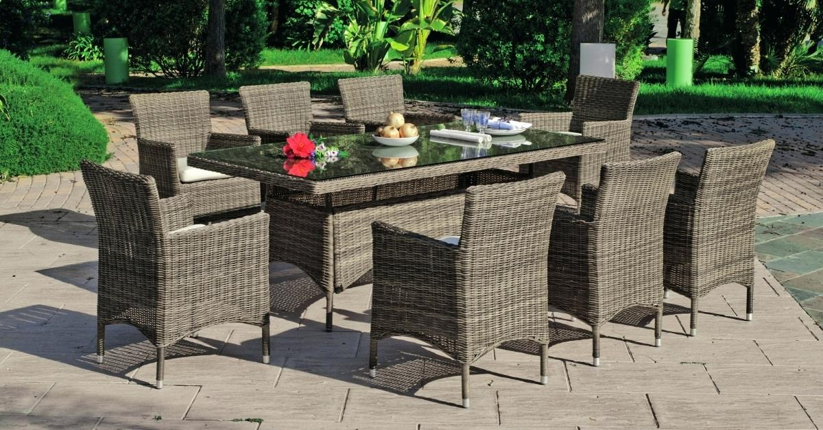 Salon de jardin alu table 8 places anthracite - Mailleraye.fr jardin