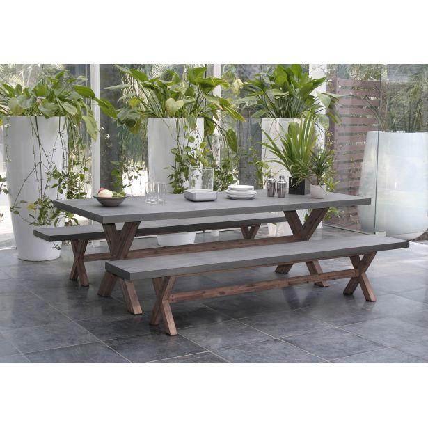 Mobilier de jardin en ciment imitation bois - Mailleraye.fr ...