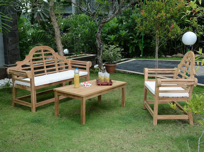Craquez pour ce salon de jardin en bois ethnique chic