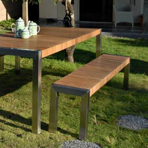 Salon de jardin en bois avec banc - Mailleraye.fr jardin