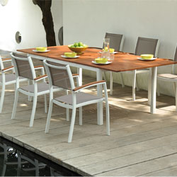 Table salon de jardin plastique blanc - Mailleraye.fr jardin