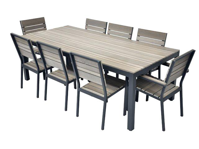 Table De Jardin Composite.Table Salon De Jardin Alu Et Composite Mailleraye Fr Jardin