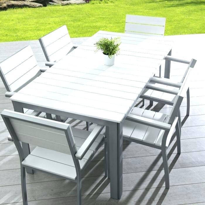 Salon de jardin aluminium plateau composite - Mailleraye.fr jardin