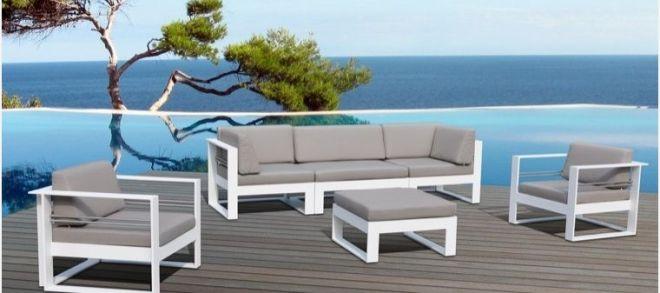 Salon de jardin structure aluminium - Mailleraye.fr jardin