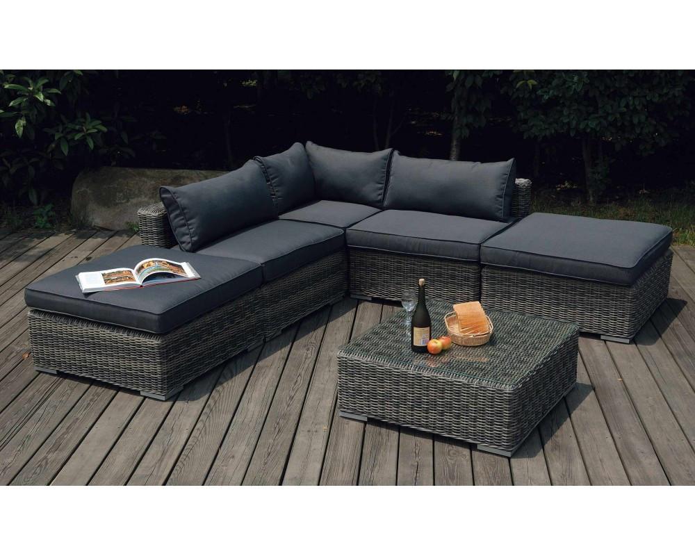 salon de jardin en rotin naturel stunning table en rotin. Black Bedroom Furniture Sets. Home Design Ideas