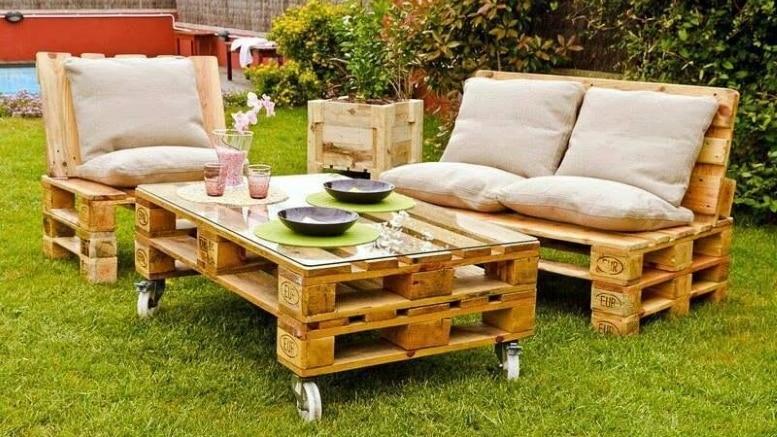 Image de salon de jardin en palette