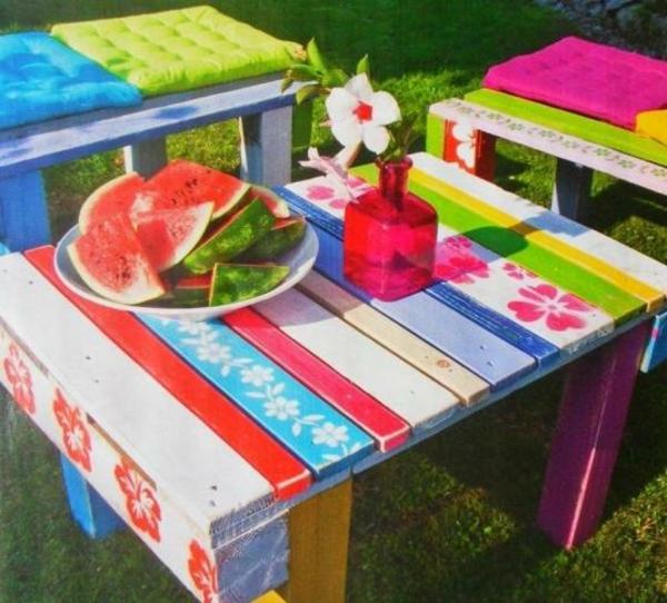 Peindre salon de jardin en palette