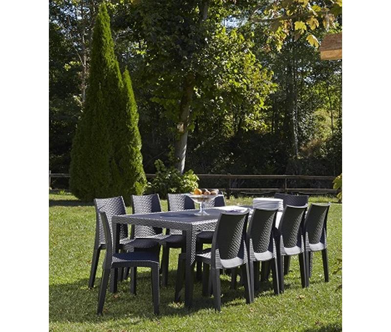 salon de jardin beige grosfillex jardin. Black Bedroom Furniture Sets. Home Design Ideas