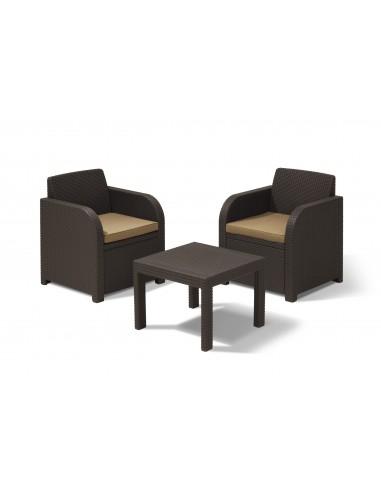 Salon de jardin 2 fauteuils table