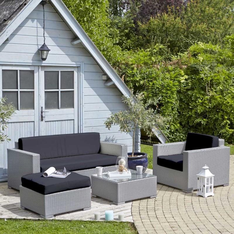 Salon de jardin gris tresse - Mailleraye.fr jardin