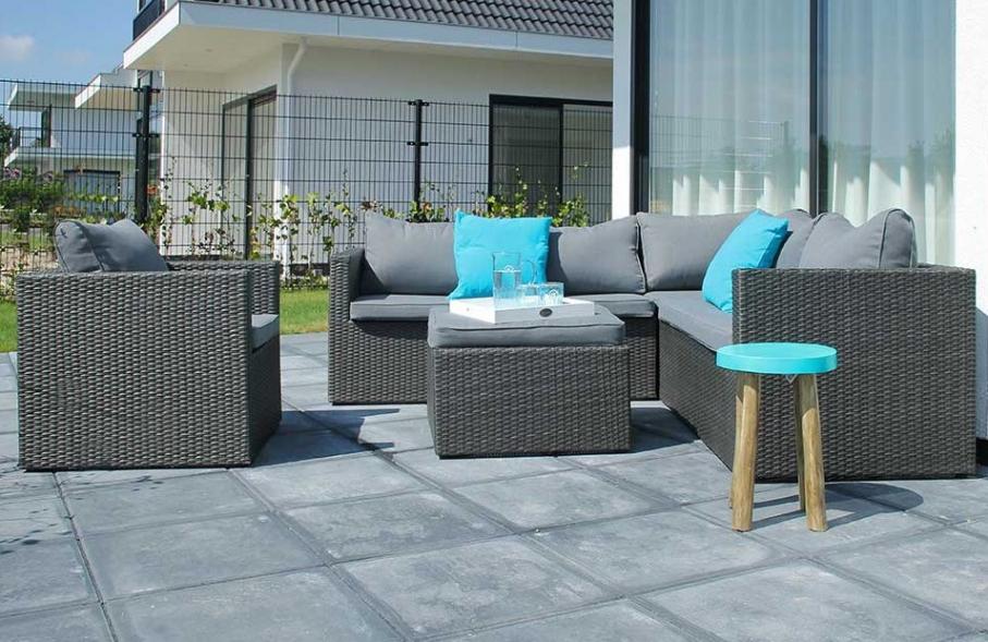 Salon de jardin gris anthracite tresse - Mailleraye.fr jardin