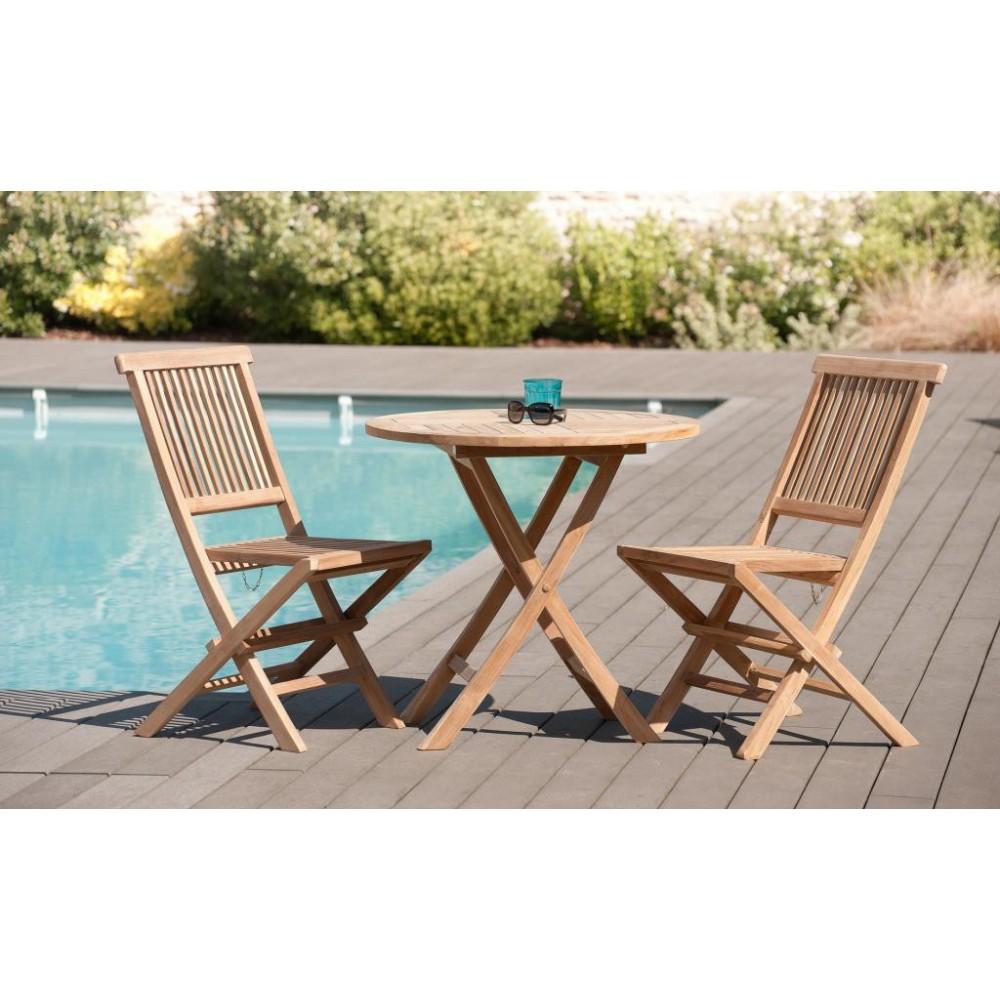 Table et 2 chaises de jardin pas cher