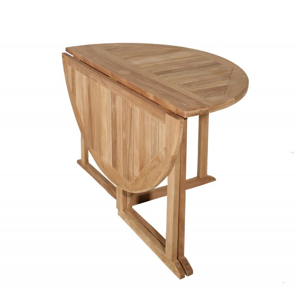 Salon de jardin en teck table ronde